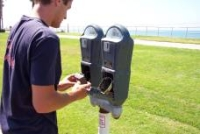 photo of parkin meter maintenance