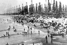 Photo of Historical Huntington Beach Oil Deckers