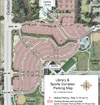 Map of Library and Sports Complex Parking