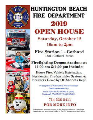 Photo of 2019 Fire Department Open House Flyer