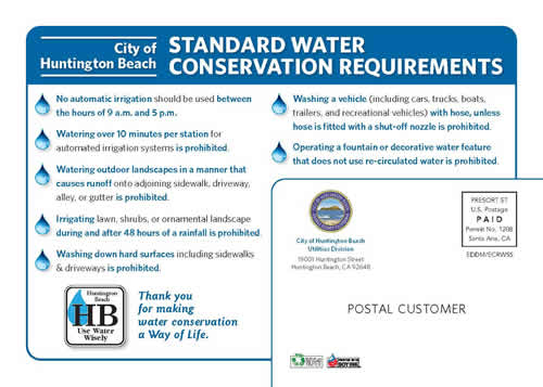 water standards permanent requirements restrictions