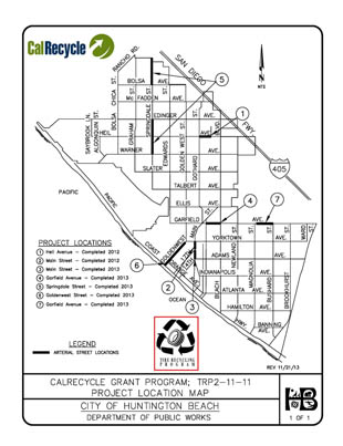 Rubberized Asphalt Project Map